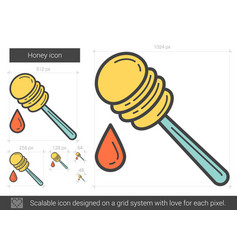 Honey line icon vector