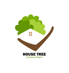 house tree logo vector image