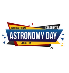 International astronomy day banner design vector