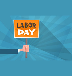 international labor day poster in vintage style vector image