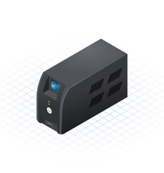 Isometric Uninterruptible Power Supply vector