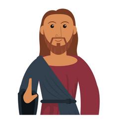 jesus christ prayer sacred image vector image