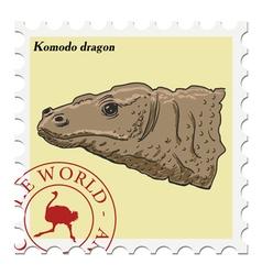 Komodo dragon vector image