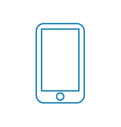 mobile telephony linear icon concept mobile vector image