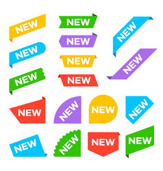 new corner labels new tag labels and arrival vector image