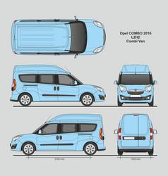 Opel combo 2016 l2h2 combi passenger van vector