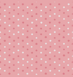 pink and white irregular polka dots vector image