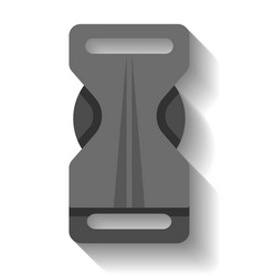 Plastic buckle clasp isolated vector