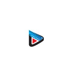 Play button cinema movie logo vector