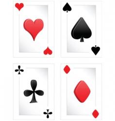 Poker clubs diamonds hearts spades vector