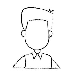 Portrait man cartoon business employee character vector