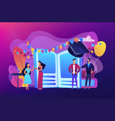 Prom party concept vector