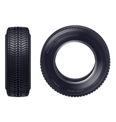 realistic car tires set vector image