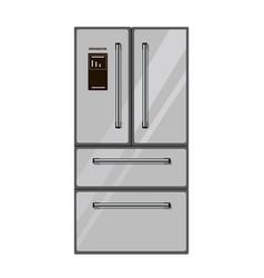 refrigerator isolated on white background vector image