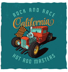 rock and race california poster vector image