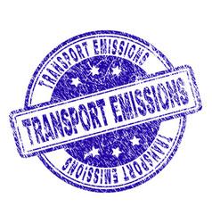 Scratched textured transport emissions stamp seal vector