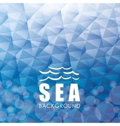 Sea design blue background Colorful vector image