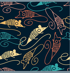 Seamless design ornamental pattern dark vector