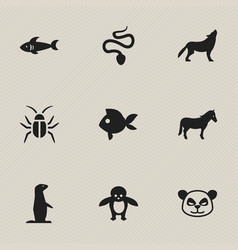 set of 9 editable nature icons includes symbols vector image