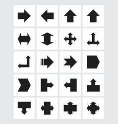 set of black arrows vector image