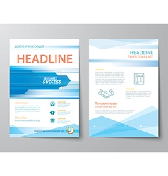 set of business magazine cover vector image