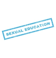 Sexual Education Rubber Stamp vector