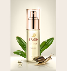 Snail extract cosmetic ads cosmetic packaging vector