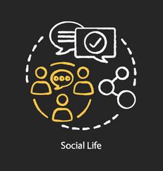 Social life concept chalk concept icon vector