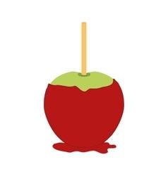 Sugar food design apple icon sweet vector image