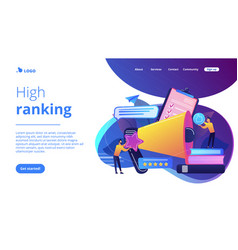 Top-ranking concept landing page vector