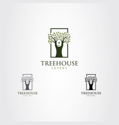 tree house expert logo sign symbol icon vector image