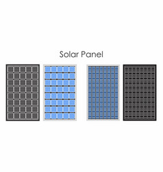 Types solar panel without outline and black vector