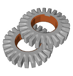 Uses of spur gears or color vector