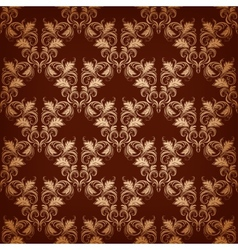 vintage damask seamless vector image