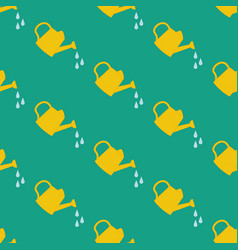 watering can seamless pattern vector image