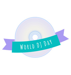 World dj day vector