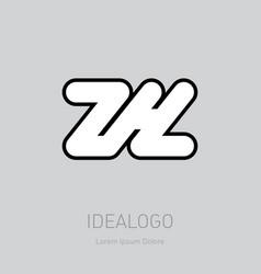 zh - design element or icon initial monogram vector image