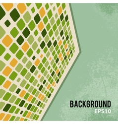 Abstract retro background with mosaic elements vector image