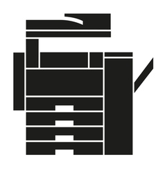 Copy Machine Icons Logo Symbol vector image