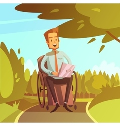 Disabled Businessman vector image