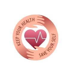 health care logo vector image vector image