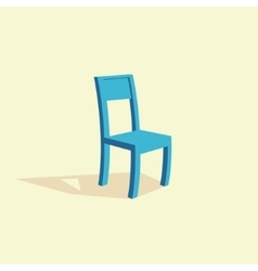 Isolated wooden chair vector