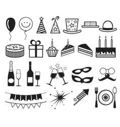 Celebration party icons vector image vector image