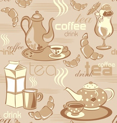 deverages seamless background vector image