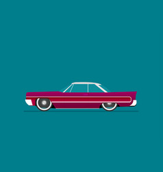 flat lowrider car icon vector image vector image