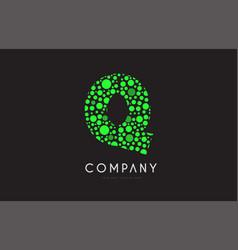 q letter bubble green logo icon design vector image vector image
