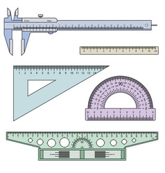 set of measuring instruments vector image