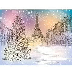 Winter Christmas Background Sketch vector image vector image