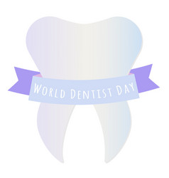 world dentist day vector image vector image