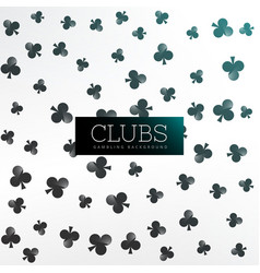 Clubs symbol pattern background vector